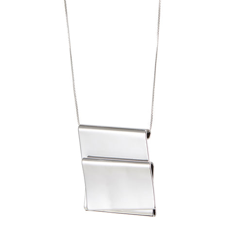 The Eli Pendant by Jenny Bird in Rhodium