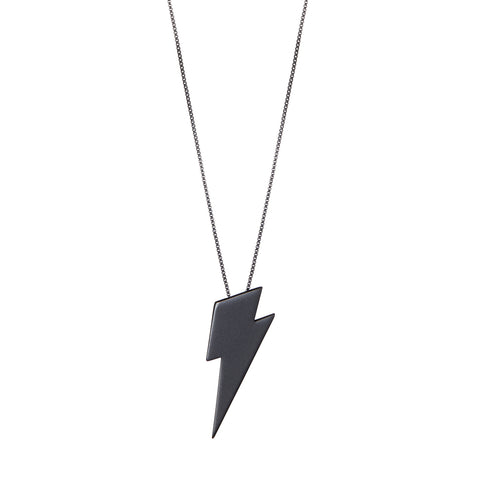 The Thunderstruck Pendant by Jenny Bird in Matte Black