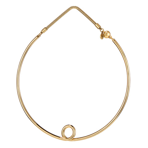 The Loop Collar by Jenny Bird in High Polish Gold