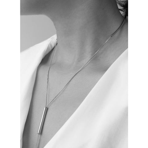 Finley Lariat by Jenny Bird in High Polish Silver