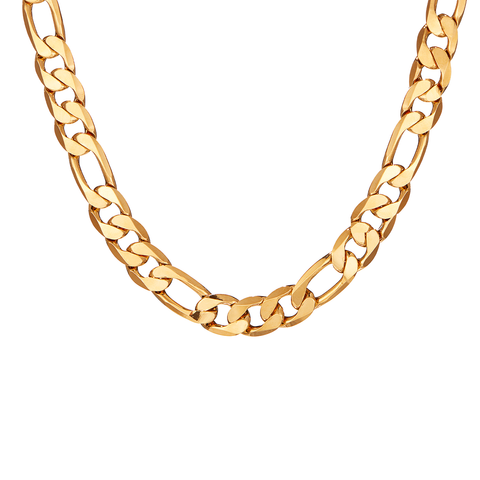 Figaro chain link The Landry necklace in Gold by JENNY BIRD