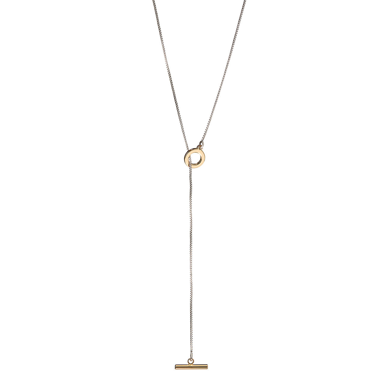 Mimi Lariat by Jenny Bird in Two-Tone