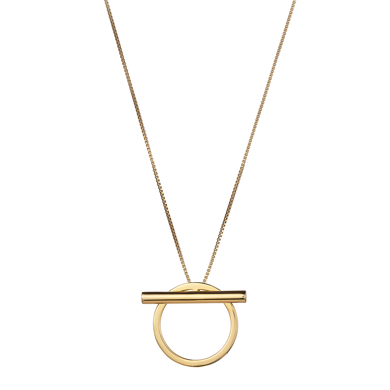 Trust Pendant by Jenny Bird in Gold