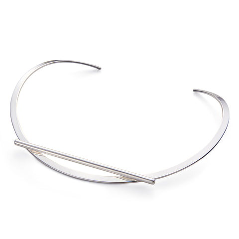 Trust Collar by Jenny Bird in Silver
