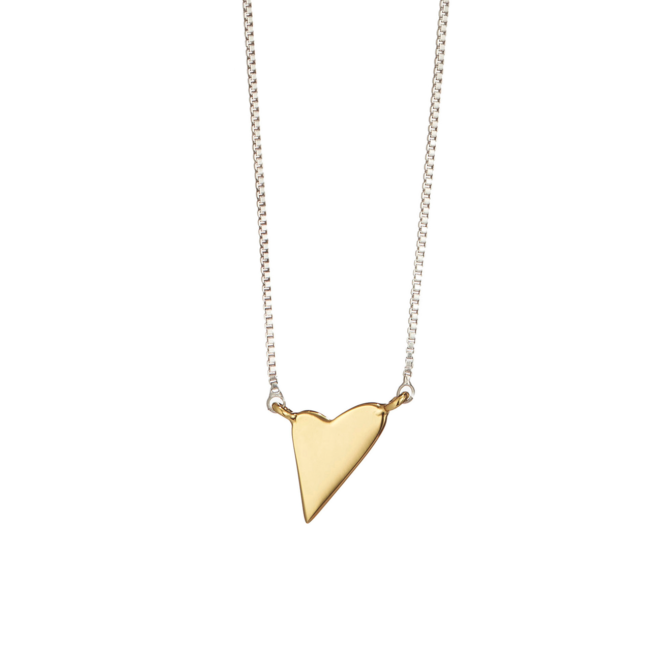 Love Pendant Necklace by Jenny Bird in Gold
