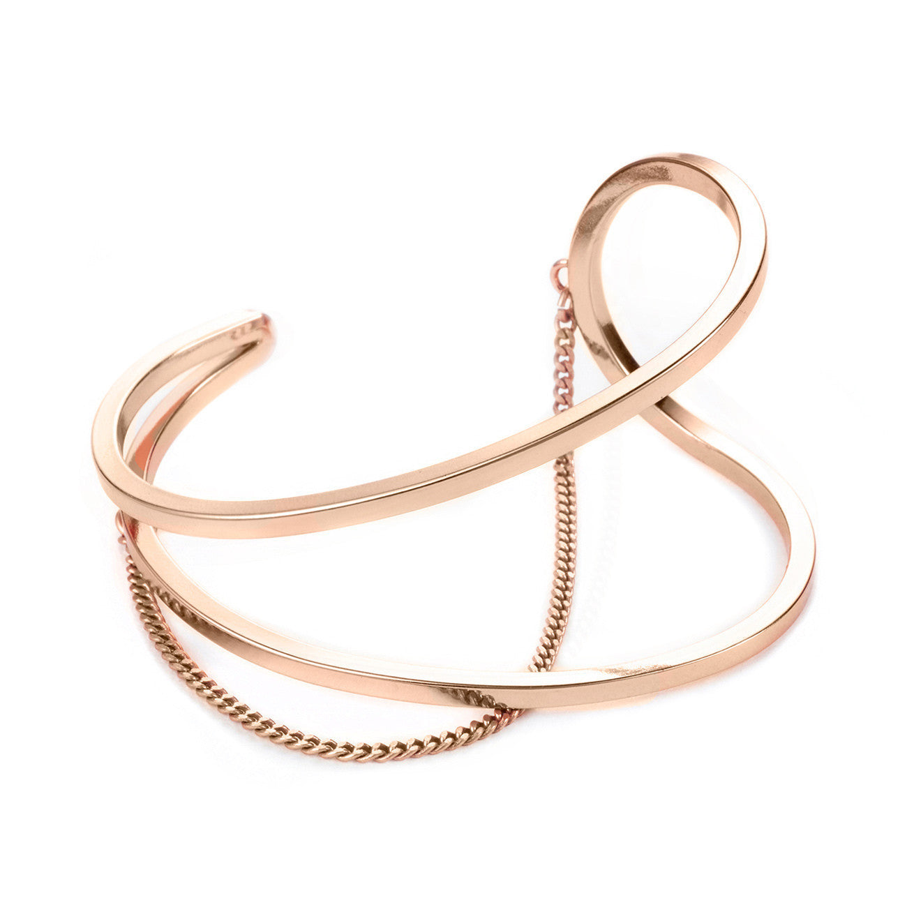 River Cuff in Rose Gold by Jenny Bird