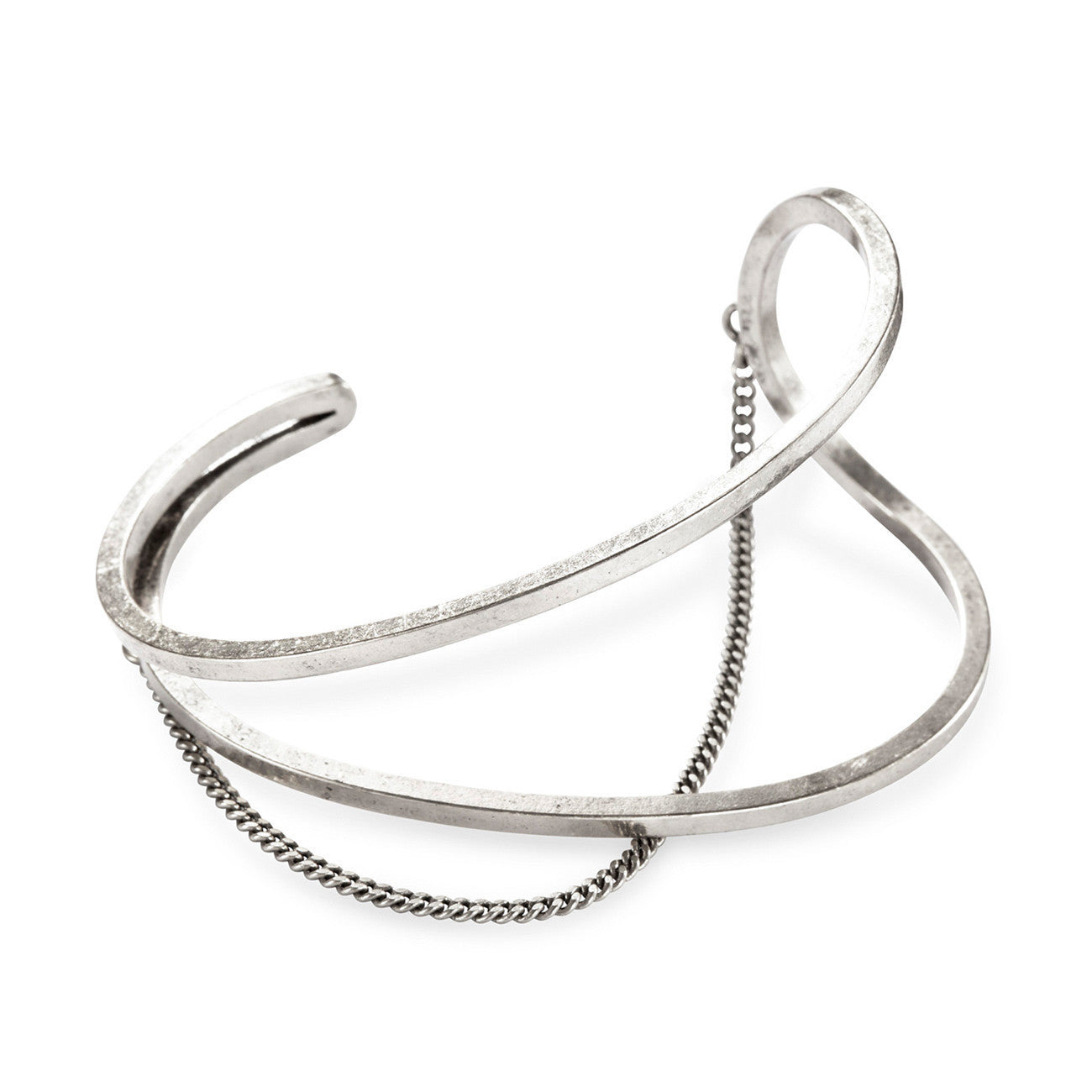 River Cuff in Silver Ox by Jenny Bird