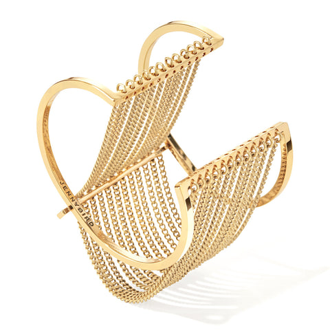 Jenny Bird Fallingwater Cuff in High Polish Gold
