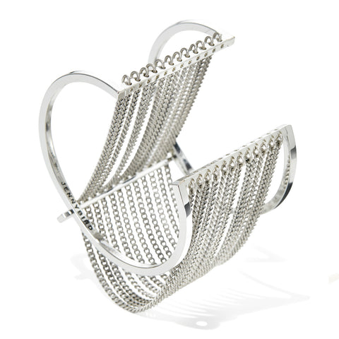 Jenny Bird Fallingwater Cuff in High Polish Silver