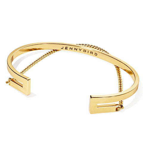 Jenny Bird Mia Cuff in High Polish Gold