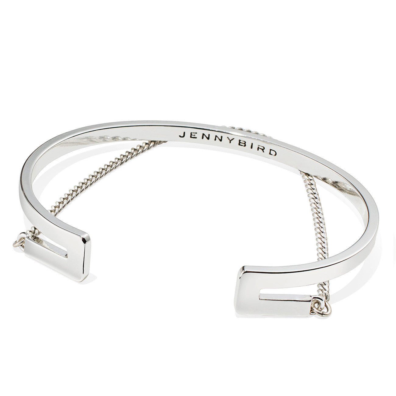Jenny Bird Mia Cuff in High Polish Silver