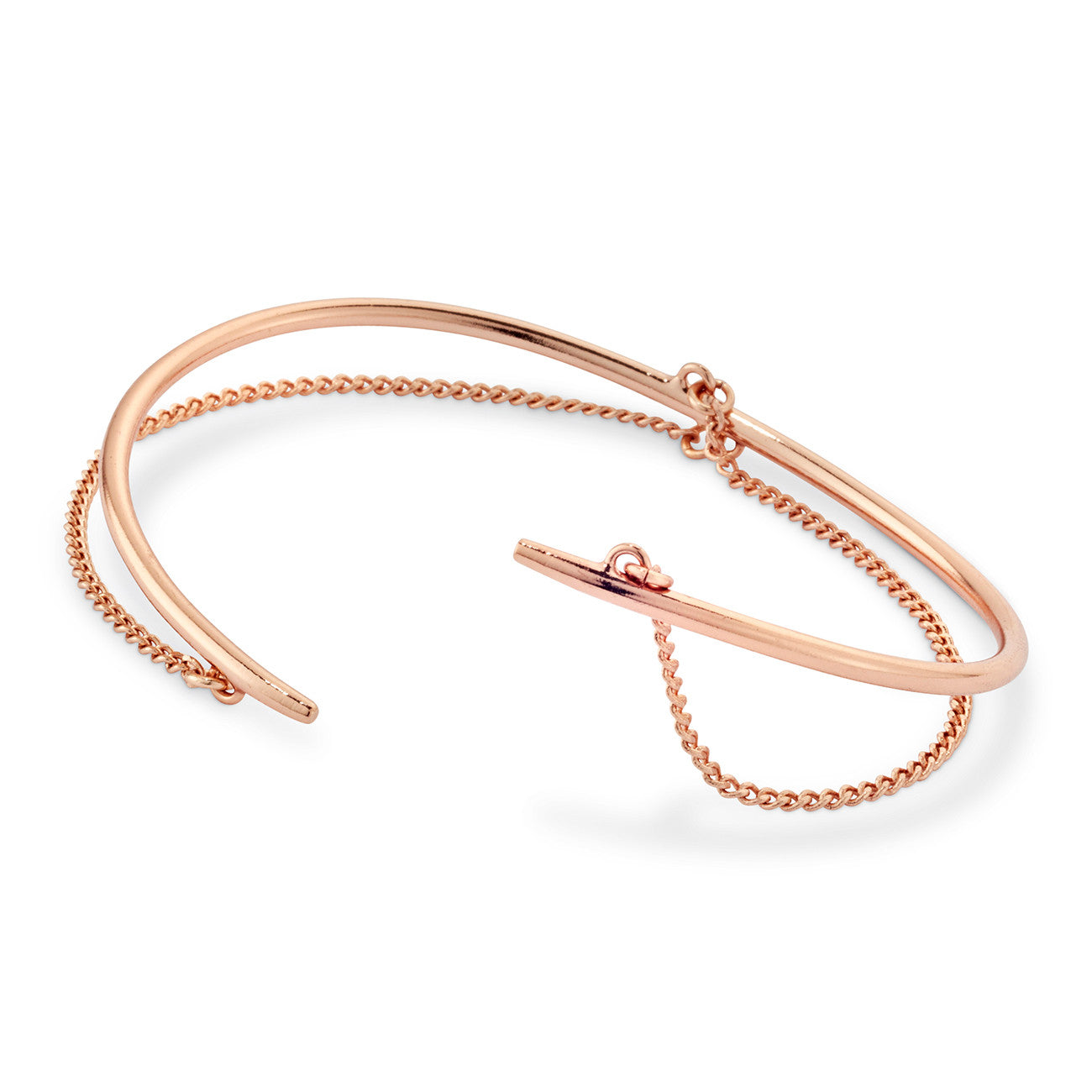 Rill Cuff By Jenny Bird in Rose Gold