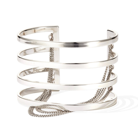 Series Cuff by Jenny Bird in High Polish Silver