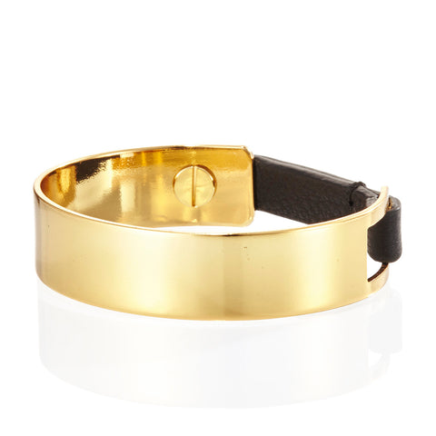 The Jane Cuff by Jenny Bird in High Polish Gold