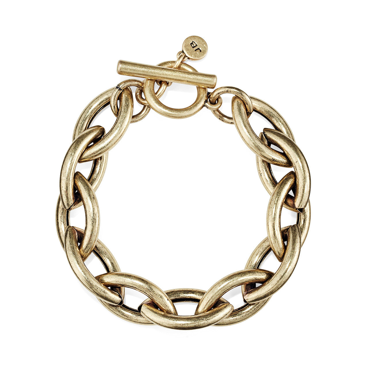 Small Sloane Bracelet by Jenny Bird in Oxidized Gold
