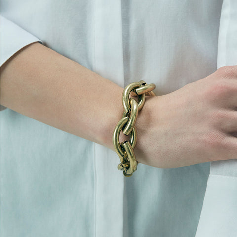 Large Sloane Bracelet by Jenny Bird in Oxidized Gold