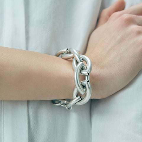 Large Sloane Bracelet by Jenny Bird in Oxidized Silver
