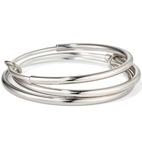 The Lola Bangles by Jenny Bird in Rhodium