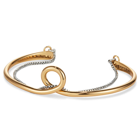 The Loop Cuff by Jenny Bird in Two-Tone