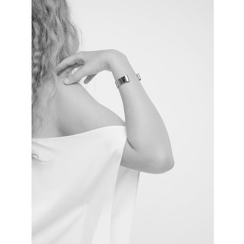 The Serra Cuff by Jenny Bird in Rhodium