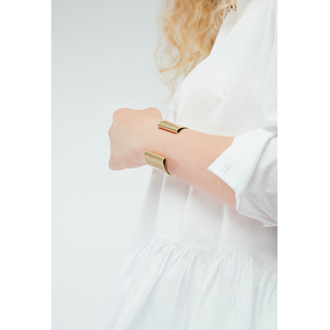 The Eli Cuff by Jenny Bird in Antique Gold