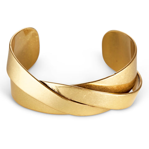 The Lovers Cuff by Jenny Bird in antique Gold