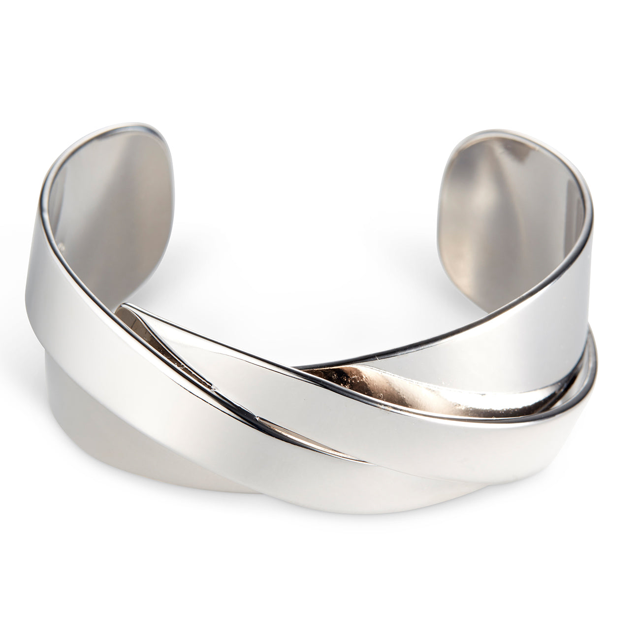 The Lovers Cuff by Jenny Bird in Rhodium