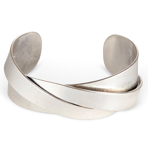 The Lovers Cuff by Jenny Bird in antique Silver