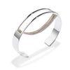 Silver Thin Chloe Cuff chain bracelet by Jenny Bird