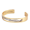 Gold Thin Chloe Cuff chain bracelet by Jenny Bird