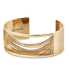 Wide gold Chloe Cuff chain bracelet by Jenny Bird