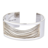 Wide silver Chloe Cuff chain bracelet by Jenny Bird