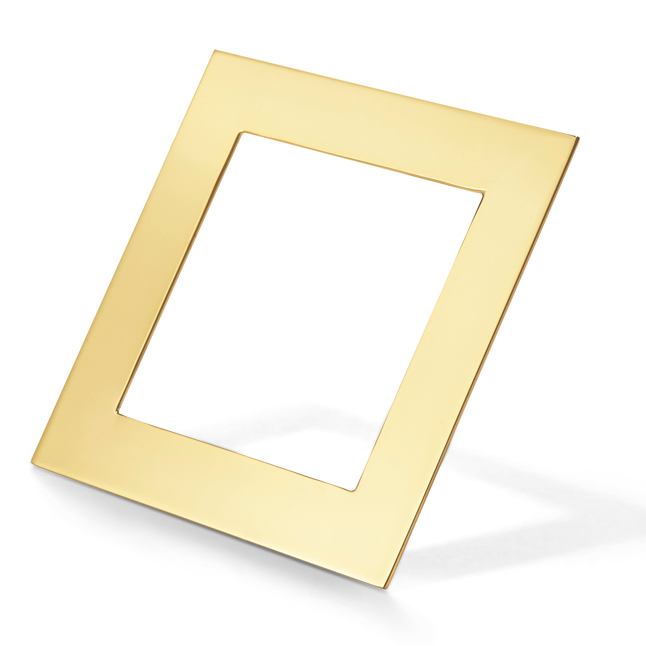 Large gold, square geometric Charlie Cuff by Jenny Bird