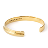 Slim open cuff Ora Bracelet - Slim in gold by JENNY BIRD