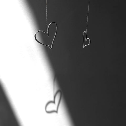 Open Hearts by Jenny Bird in Sterling Silver