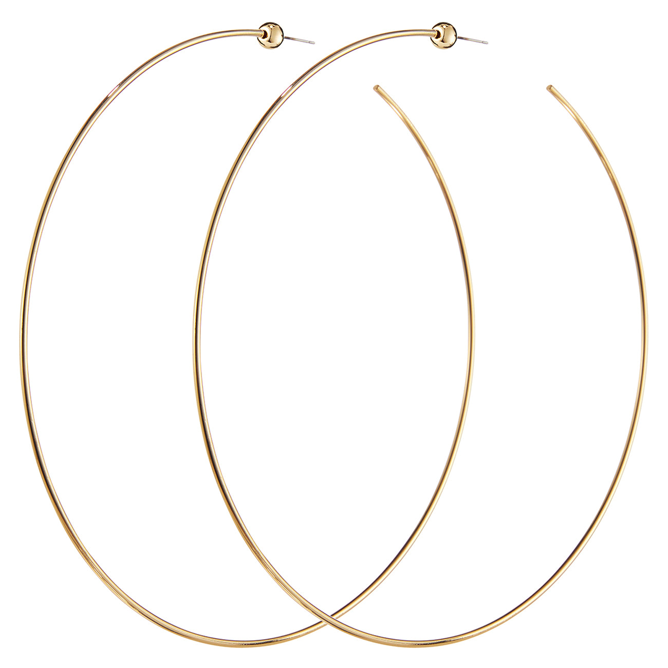 Icon Hoops XL by Jenny Bird in Gold