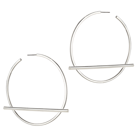 Trust Hoops by Jenny Bird in Silver