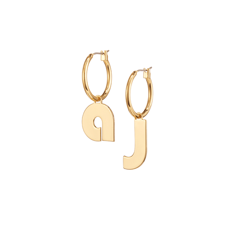 Modernist Monogram Hoops