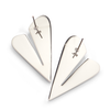 Two of Hearts Earrings by Jenny Bird in Silver