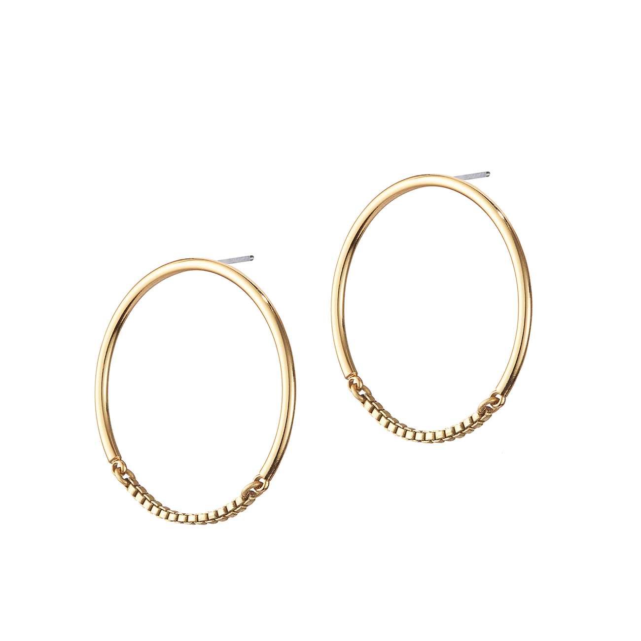 Gold small chain Sadie Hoops by Jenny Bird