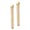 Gold Chloe Drapes long chain earrings by Jenny Bird