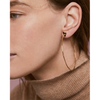 Rebel Heart Hoops Earrings by Jenny Bird in Gold