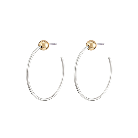 Extra small XS Icon Hoops earrings in Gold and Silver by JENNY BIRD