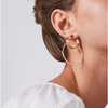 Gold and Silver double Imogen Hoops - Large earrings by JENNY BIRD