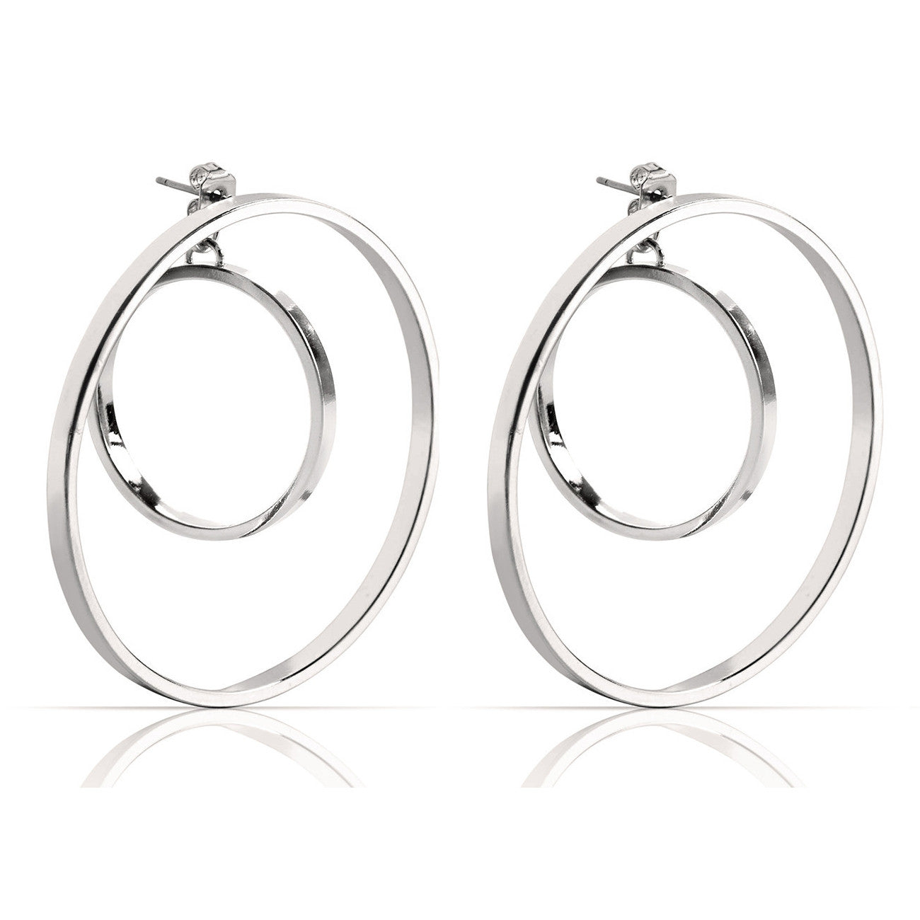 Jenny Bird Rise Hoops in High Polish Silver