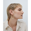 Gold flat Quinn Hoops - Medium earrings by JENNY BIRD