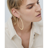 Gold flat Quinn Hoops - Large earrings by JENNY BIRD