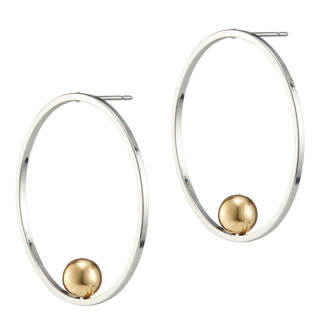 Saros Hoops by Jenny Bird in Rhodium