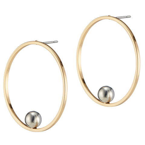 Saros Hoops by Jenny Bird in Two Tone