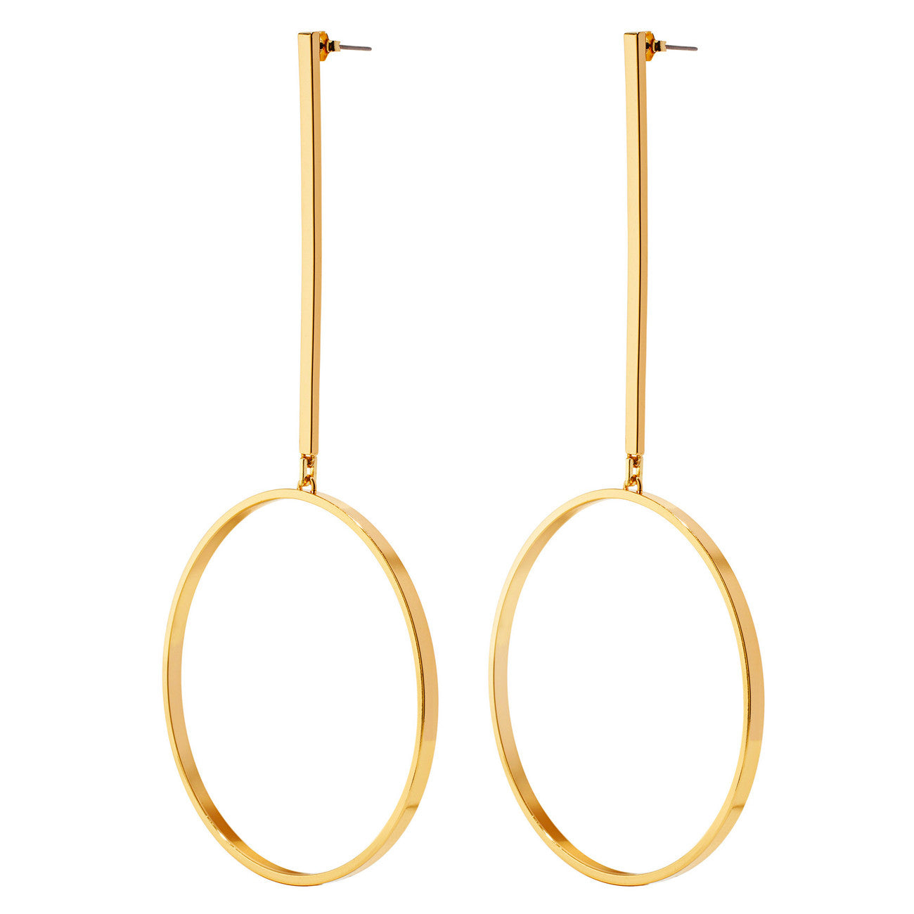 Jenny Bird Edie Hoop Earrings Large in Gold